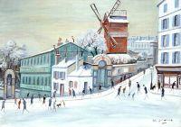 Le Moulin de la Galette - 20226 - Le Moulin de la Galette sous la neige