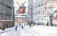 Le Moulin de la Galette - 20254 - Le Moulin de la Galette en hiver