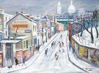 Montmartre - 20202 - Rue de l'Abreuvoir sous la neige
