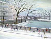 La Seine - 20187 - La Seine au Pont-Marie sous la neige