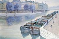 La Seine - 20233 - Les chalands sur la Seine
