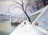 La Seine - 20243 - La Seine au Pont du Carrousel sous la neige