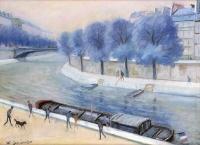 La Seine - 20374 - L'Ile de la cité à la passerelle St-Louis