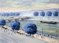 La Seine - 20678 - La Seine aux arbres bleus