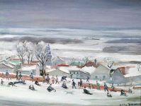 Neige - 20179 - La partie de luge au village