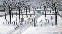 Neige - 20216 - Le parc sous la neige