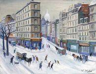 Sacré-Coeur - 20191 - Boulevard de la Chapelle sous la neige